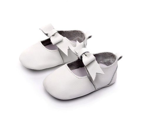 Genuine Leather Butterfly Knot Shoes - SimplyBaby.co - Shoes Funny baby clothes