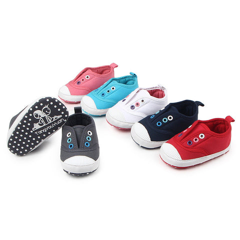 Canvas Slip Ons - SimplyBaby.co - Shoes Funny baby clothes