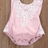 Laced Halter Romper - SimplyBaby.co - Romper Funny baby clothes