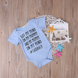 Mommy on my Mind Onesie - SimplyBaby.co - 1-Piece Funny baby clothes