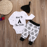 New to the Tribe 3-Piece Set - SimplyBaby.co - 3 piece set Funny baby clothes
