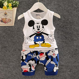 Summer Baby Boy Mickey Short Set - SimplyBaby.co - Clothing Set Funny baby clothes