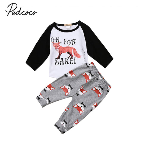 For Fox Sake 2-Piece Set - SimplyBaby.co - 2-Piece Funny baby clothes
