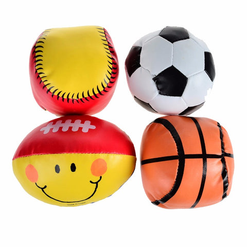 Baby Soft Safe Rugby - Basketball -Softball -Football - 4pcs Pack - SimplyBaby.co - Toys | Baby Funny baby clothes