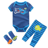 Infant Baby Boy  | Girl Cotton Sets - SimplyBaby.co - 3 piece set Funny baby clothes