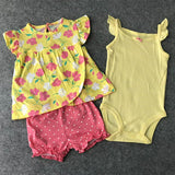 Assorted 3 Pcs Infant Girls Clothes Sets , 6M -24M - SimplyBaby.co - Clothing Sets Funny baby clothes