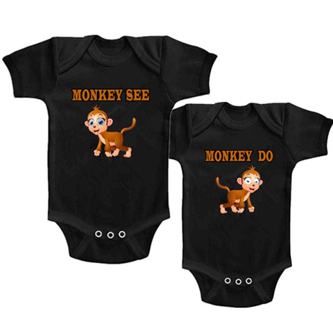 Twins Baby Cotton Onesie - SimplyBaby.co -  Funny baby clothes
