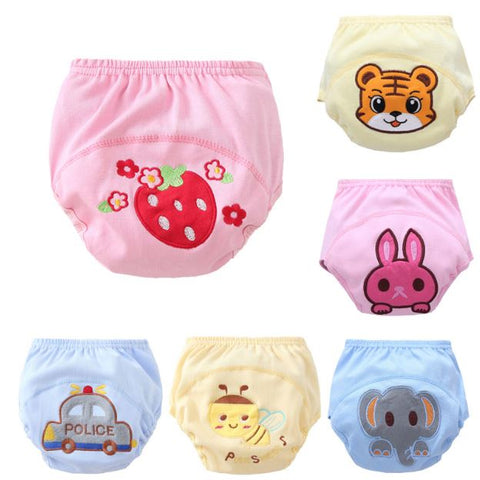 Cartoon Breathable Training Pants \ Reusable Nappy Cover cloth - SimplyBaby.co - training pants Funny baby clothes