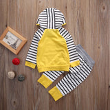 Yellow Striped Hoodie and Pants 2-Piece Set - SimplyBaby.co - 2-Piece Funny baby clothes