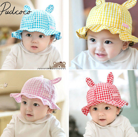 Baby Girl Summer Beach Sun Hat - Cute Rabbit Ear - SimplyBaby.co - Hat Funny baby clothes