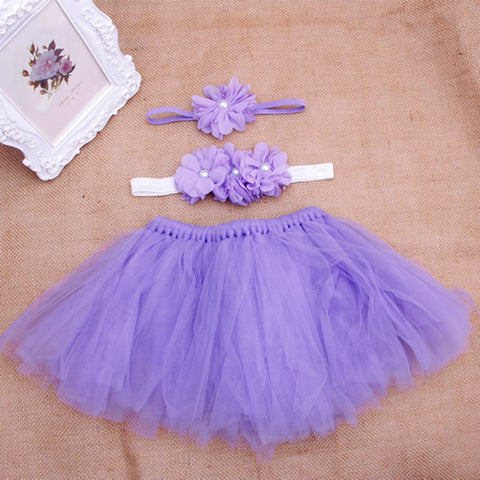 Baby Girl Flower Clothes+Hairband+Tutu - SimplyBaby.co - tutu Funny baby clothes