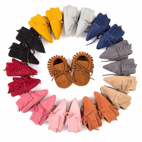 Lace Up Moccasins - SimplyBaby.co - Shoes Funny baby clothes