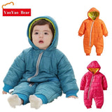 Comfortable Baby Boy Bear Winter Snowsuit - SimplyBaby.co - Romper Funny baby clothes