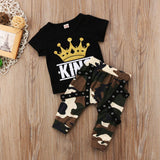 Camo Baby Boys Clothing Short Sleeve Tops & Pants - Free Shipping! - SimplyBaby.co - 2-Piece Funny baby clothes
