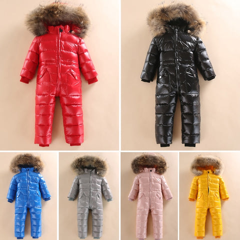 Winter Snowsuit Jacket 80% Duck Down Outdoor - SimplyBaby.co - Outdoor Funny baby clothes