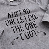 Newborn Onesie - Ain't No Uncle Like The One I Got - Long Sleeve Gray Bodysuits - FREE Shipping - SimplyBaby.co -  Funny baby clothes