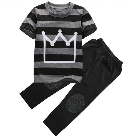 Crown Shirt & Pants 2-Piece - SimplyBaby.co - Cute & Affordable Clothing For The Whole Family!