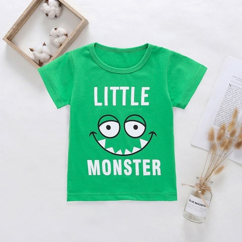 New Cotton Kids T-Shirt Children Summer Short Sleeve - SimplyBaby.co - Tops Funny baby clothes
