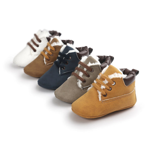 Lace Up Leisure Boots - SimplyBaby.co - Shoes Funny baby clothes