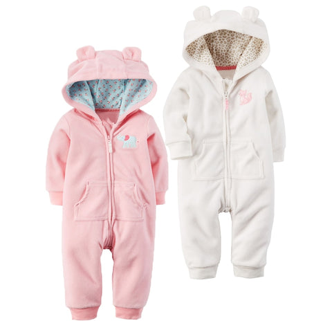 Autumn & Winter Newborn Infant Baby Fleece Jumpsuit - FREE Shipping! - SimplyBaby.co -  Funny baby clothes