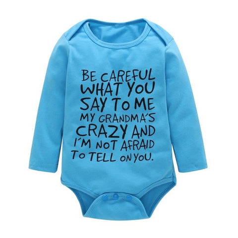 0-12M Newborn Onesie Cotton Infant Bodysuit Long Sleeved - Free Shipping! - SimplyBaby.co - Onesie Funny baby clothes