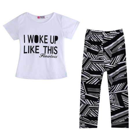 I Woke Up Like This 2-Piece Set - SimplyBaby.co - 2-Piece Funny baby clothes