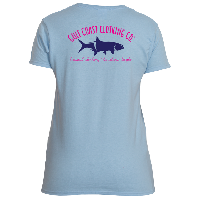 Gulf Coast Ladies Logo Summer Sky Tshirt