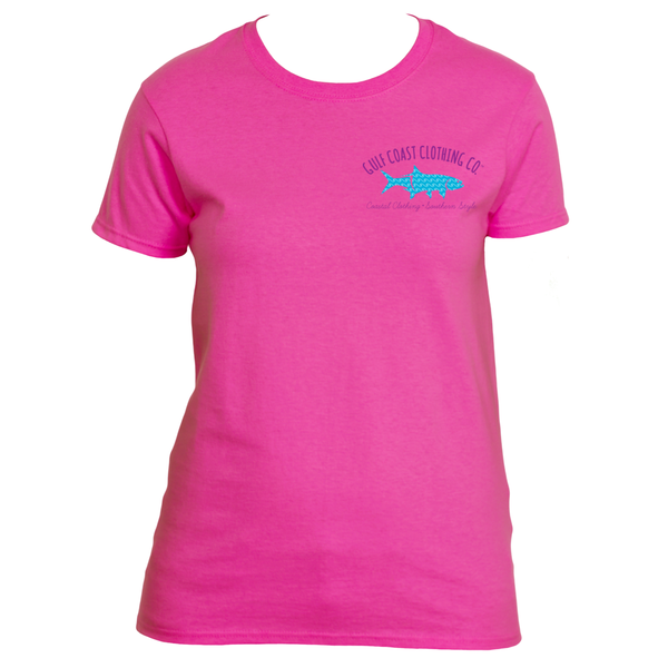 Gulf Coast Clothing Co. Ladies Surf Waves Tarpon Logo Tee
