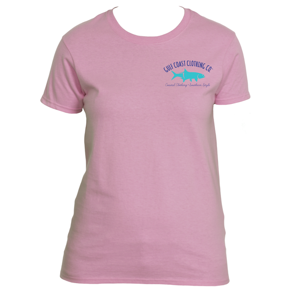 Gulf Coast Clothing Co. Ladies Calm Waves Tarpon Logo Tee