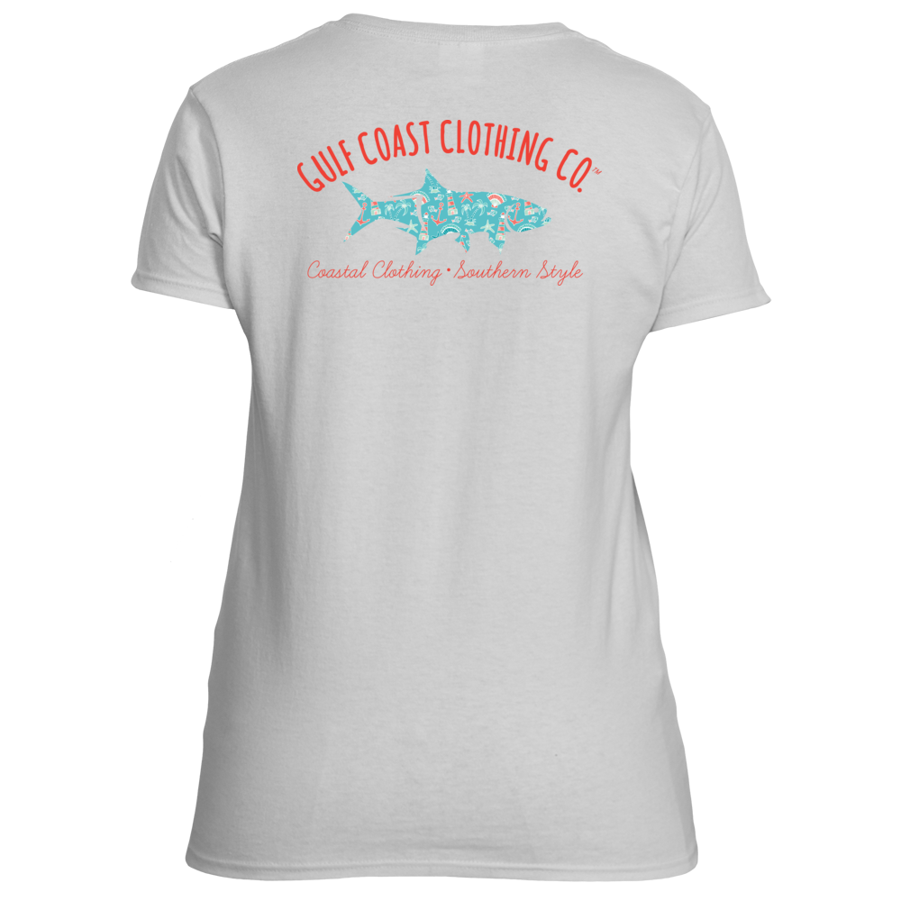 Gulf Coast Clothing Co. Ladies Coastal Shore Tarpon Logo Tee