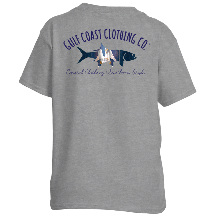 Gulf Coast Clothing Co. Kids State Collection Louisiana Tee