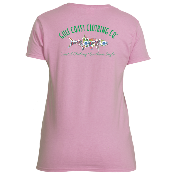 Gulf Coast Clothing Co. Ladies Sealife Tarpon Tee