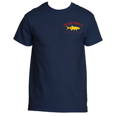 Gulf Coast Clothing Co. Varsity Greek Collection Red Blue Gold Tee