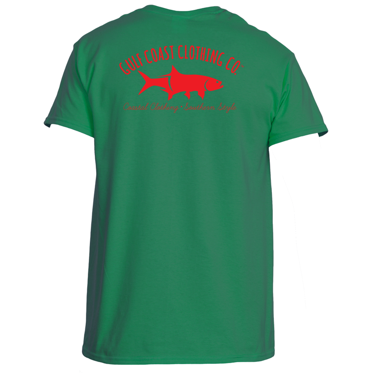 Gulf Coast Clothing Co. Greek Varsity Collection Red Green Tee