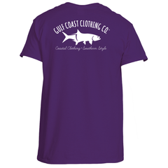 Gulf Coast Clothing Co. Greek Varsity Collection Purple White Tee