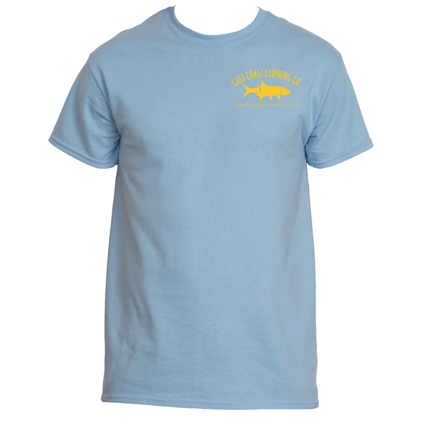 Gulf Coast Clothing Co. Greek Varsity Collection Gold Blue Tee