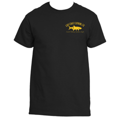 Gulf Coast Clothing Co. Greek Varsity Collection Black Yellow Tee