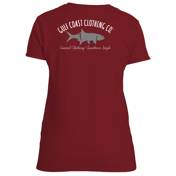 Gulf Coast Clothing Co. Ladies School Colors Tee