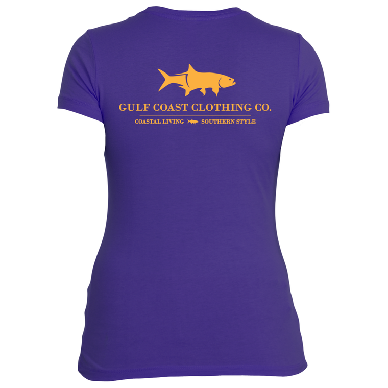 Gulf Coast Clothing Co. Ladies Coast Club Purple Rush Tee