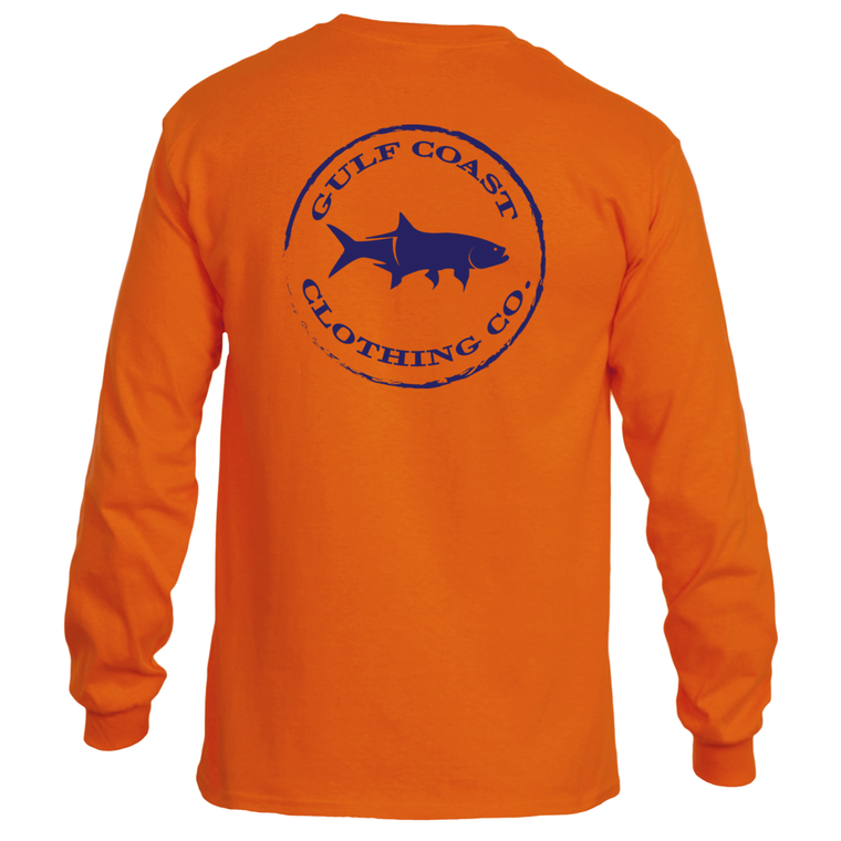 Gulf Coast Clothing Co. Long Sleeve Authentic Gulf Coast Orange Tee
