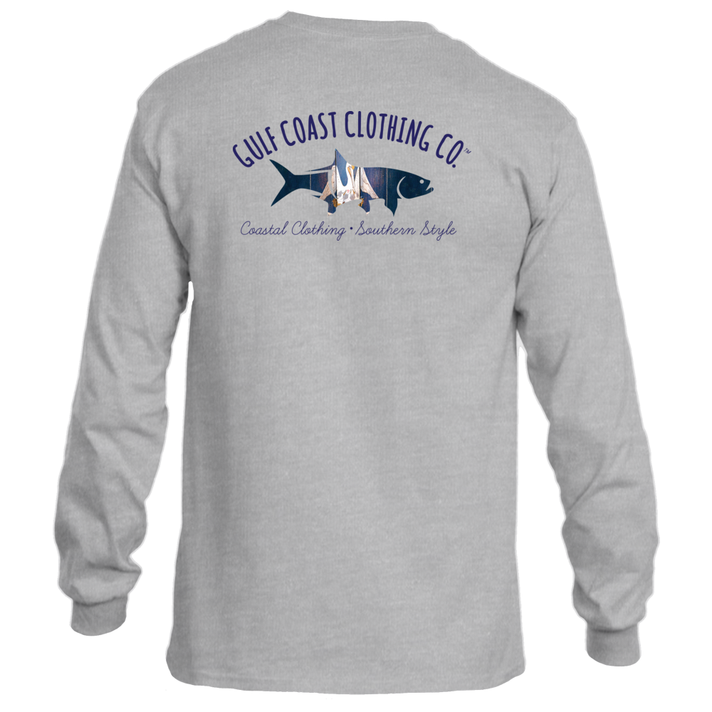 Gulf Coast Clothing Co. States Collection Unisex Louisiana Coast Long-Sleeve Tee