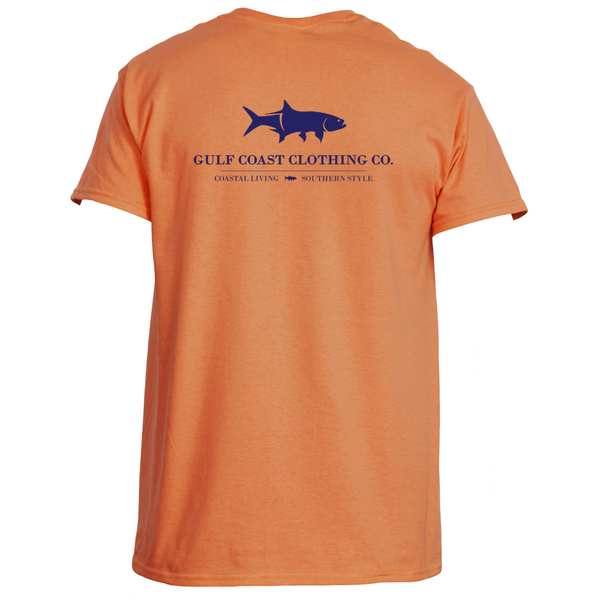 Gulf Coast Clothing Co. Coast Club Orange Squeeze Tee