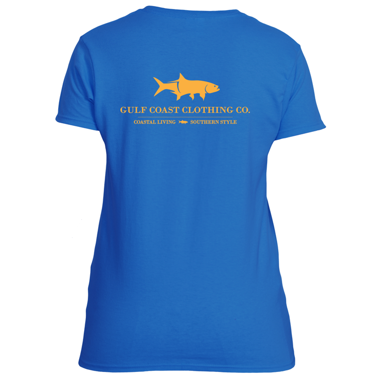 Gulf Coast Clothing Co. Coast Club Gulf Stream Blue Ladies Tee