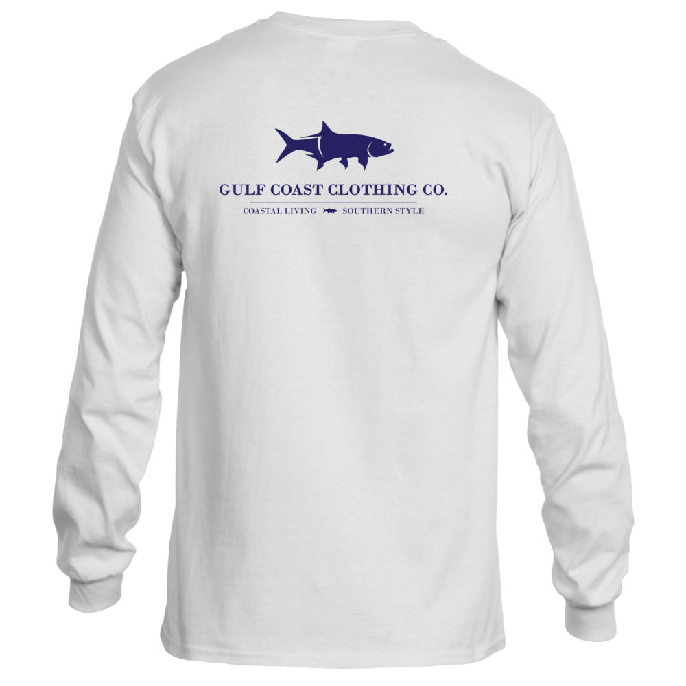 Gulf Coast Clothing Co. Coast Club Mainsail White Long Sleeve Tee