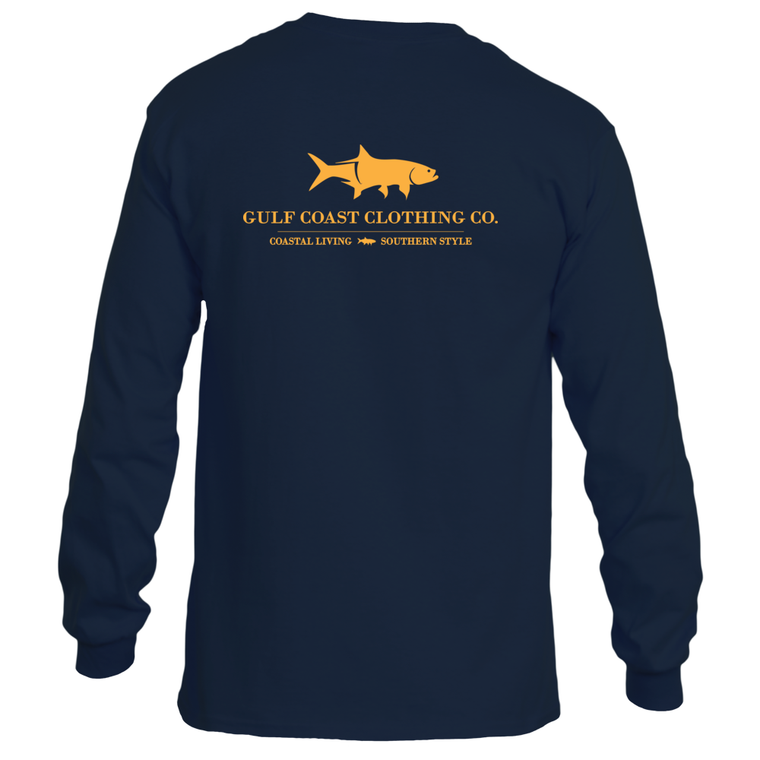 Gulf Coast Clothing Co. Coast Club Ironside Blue Long Sleeve Tee