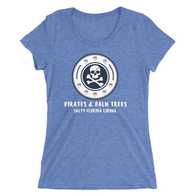 Pirates & Palm Trees Ladies' Triblend T-Shirt