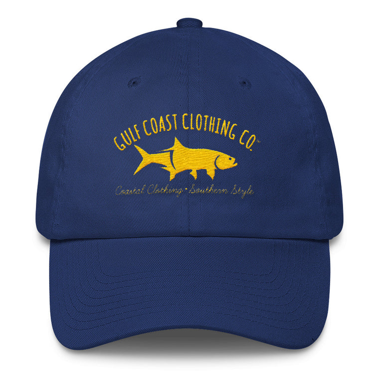 Gulf Coast Clothing Co. Greek Varsity Collection Blue Gold Cotton Cap