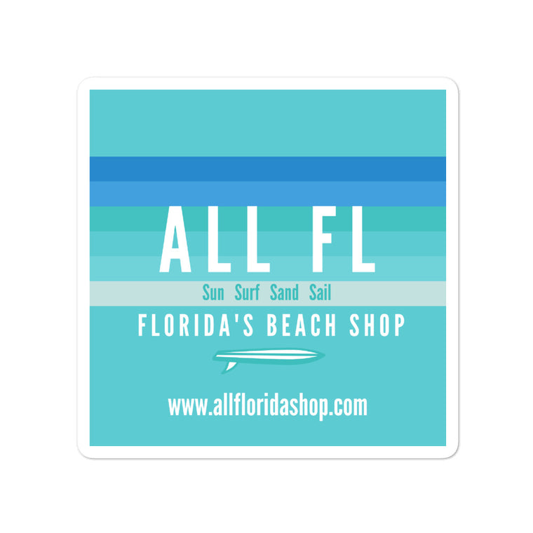 ALL FL Florida's Beach Shop Stickers