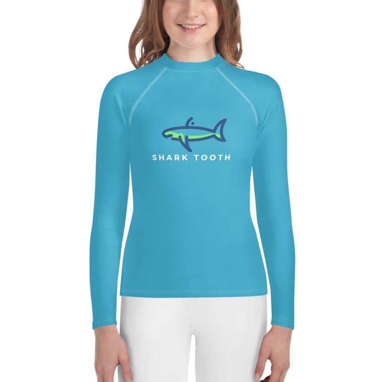 Shark Tooth Youth Rash Guard