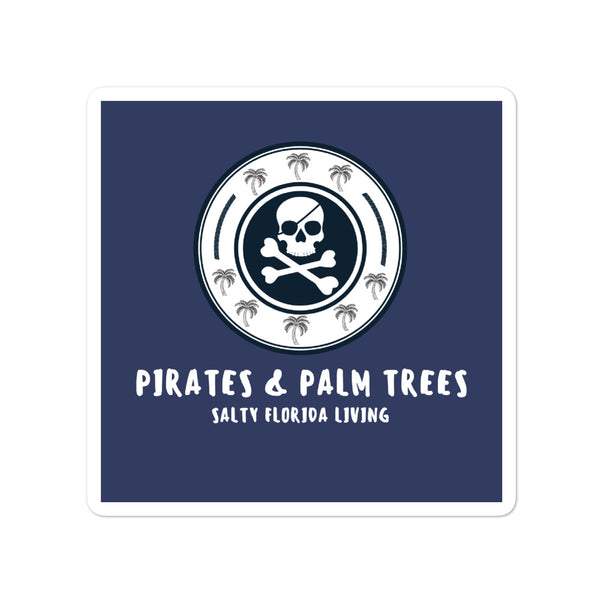 Pirates & Palm Trees Salty Florida Living Stickers